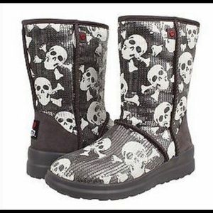 UGG limited edition sequined skull boots